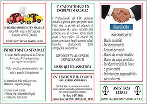 Brochure Infortunistica Stradale del Centro Servizi Caminiti