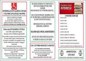 Brochure Invalidità Civile & Handicap del Centro Servizi Caminiti