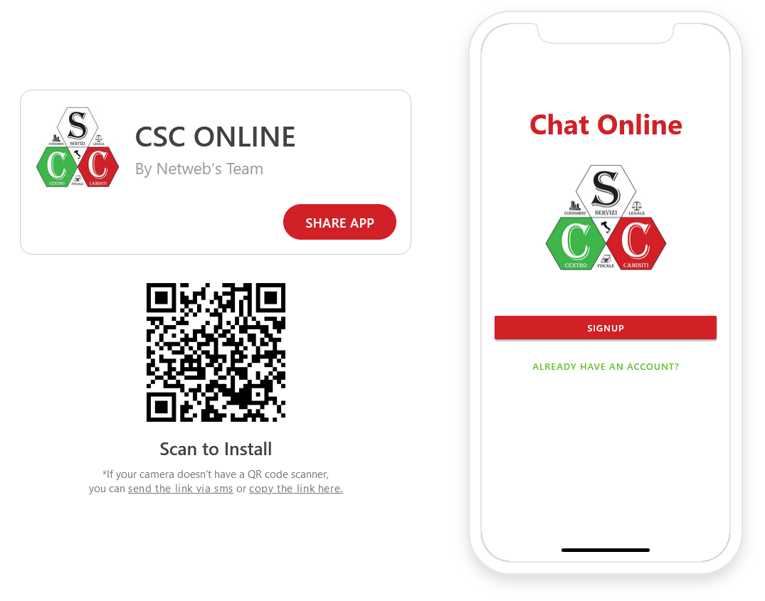 App Chat CSC Online Eng